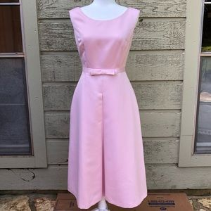 Maggy London Fit and Flare Midi Dress Pink Size 6